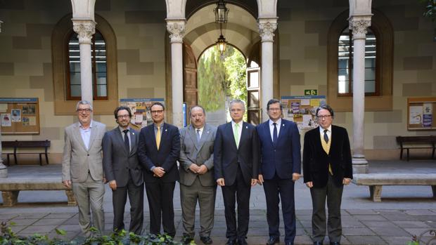 Los siete candidatos al rectorado de la Universitar de Barcelona