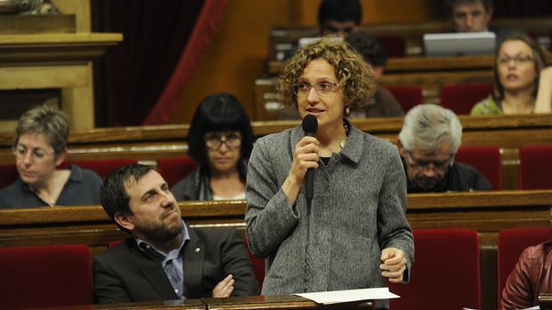 Meritxell Ruiz durante una comparecencia en el Parlament