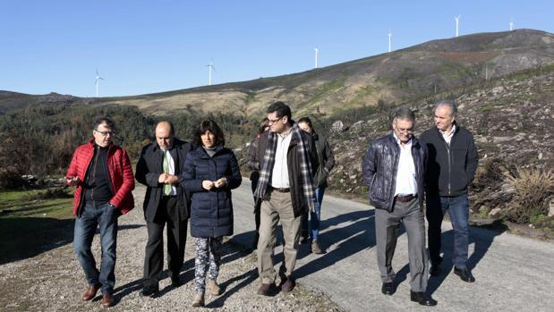 La conselleira de Medio Rural, Ángeles Vázquez, durante su visita a Arbo