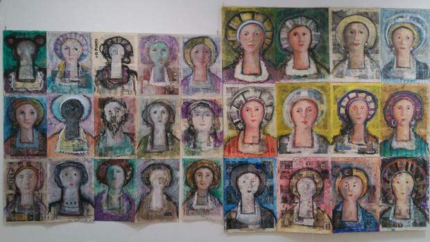 Una de las piezas de la exposición «Mi dulcineas de Melque»