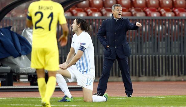 El entrenador del Villarreal, durante el partido frente al FC Zurich la pasada semana