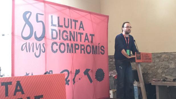 Imagen de la clausura del congreso de las juventudes de ERC