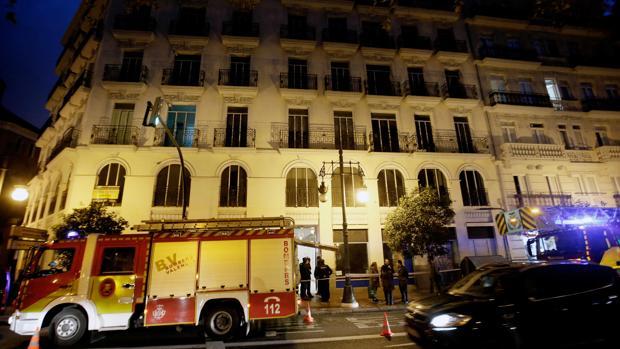 Imagen del edificio en el que se ha registrado el incendio