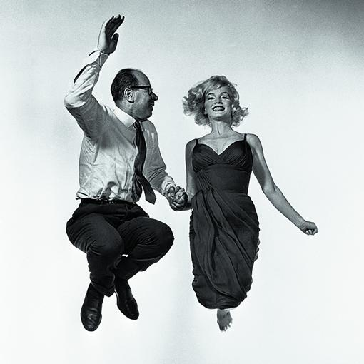 Marilyn Monroe y Philippe Halsman, en 1954