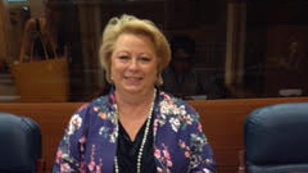 María José Aguado, en la Asamblea de Madrid