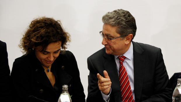 Millo, junto a la ministra de Sanidad, Dolors Montserrat