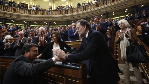 Imagen de la segunda jornada del debate de investidura de Rajoy