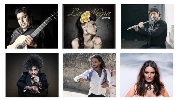 Los artistas de «Flamencos y mestizos»