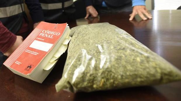 Paquete de marihuana en una imagen de archivo