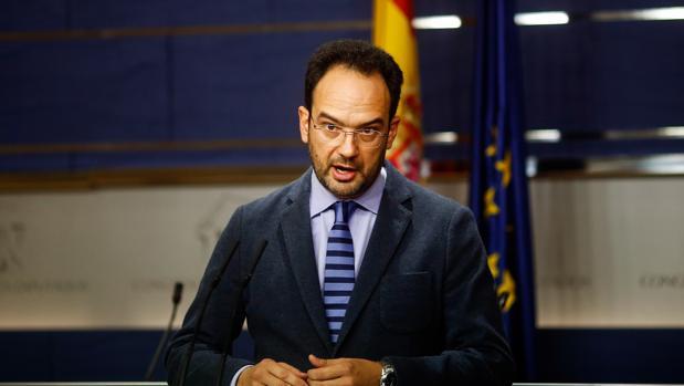 El portavoz del grupo parlamentario socialista, Antonio Hernando