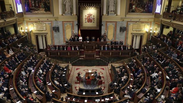 La sesión solemne de la apertura de las Cortes en la XII Legislatura