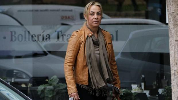 Sonia Castedo, a la salida de los juzgados en Alicante
