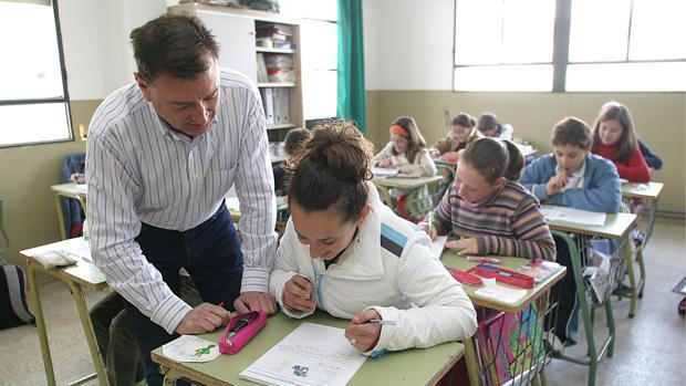 Escolares, en clase