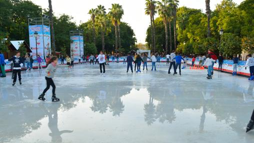 Imagen de la pista de hielo Kinder, en su edición anterior