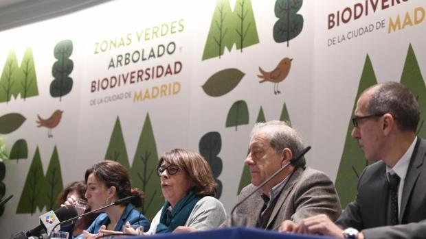 La delegada de Medio Ambiente y Movilidad, Inés Sabanés, durante la presentación