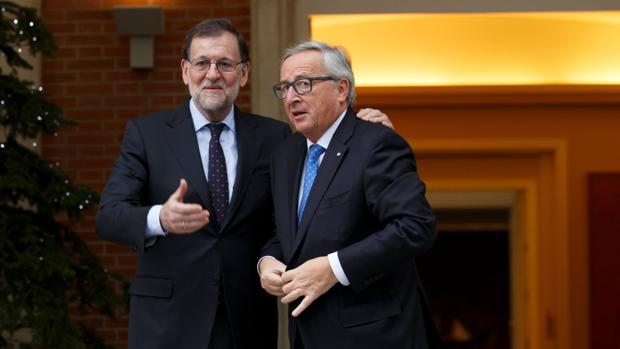 Rajoy y Juncker