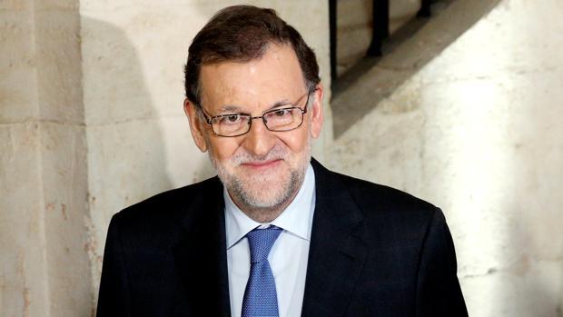 Rajoy ayer durante el acto que compartió con Mario Draghi, presidente del BCE