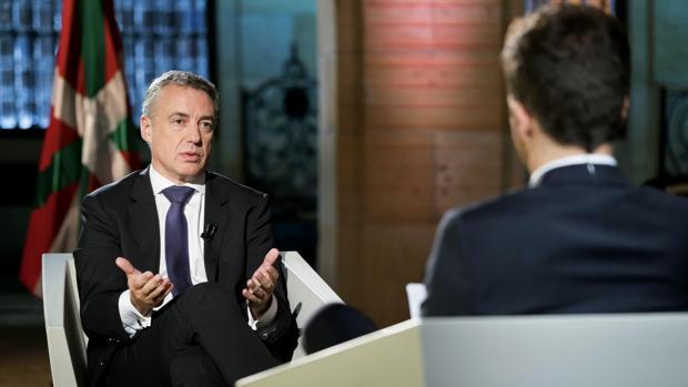 Iñigo Urkullu, lendakari, durante la entrevista