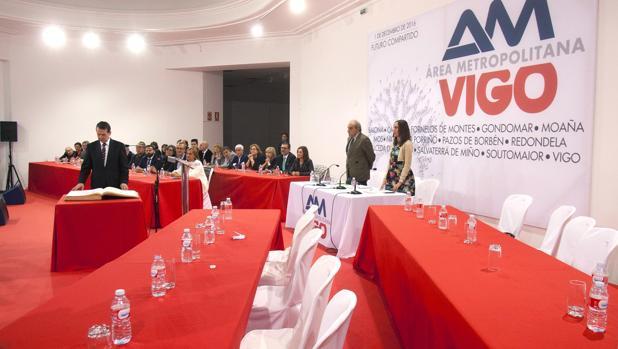 El alcalde de Vigo, Abel Caballero, en la asamblea del ente