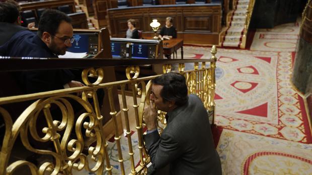 Antonio Hernando y Rafael Hernando, en el Congreso