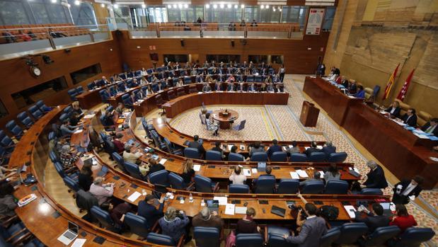 Imagen general del pleno de la Asamblea de Madrid