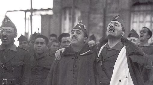 Franco, junto a Millán Astray, fundador del Tercio de Extranjeros (posteriormente la Legión)