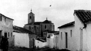 Iglesia parroquial de Huecas, donde Pascasio Ruiz ejercía como sacristán cuando cometió su crimen