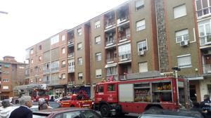 Se declara un incendio en un bloque de viviendas de Toledo