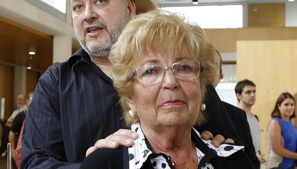 Imagen de Anita Marx tomada en 2013 en la capilla ardiente de Manolo Escobar