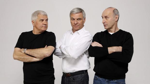 Los tres componentes de Tricicle: Joan Gracia, Carles Sans y Paco Mir