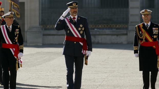 El Rey, en la celebración de la Pascua Militar