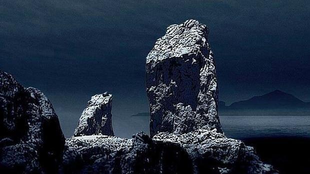 Roque Nublo, en Gran Canaria, por la noche
