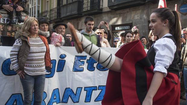 Zulueta, en el acto que le dio la bienvenida el domingo en Bilbao