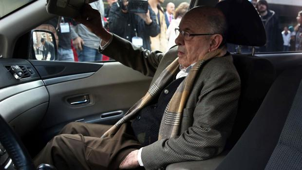 Félix Millet, este jueves a la salida de la segunda sesión del juicio del caso Palau