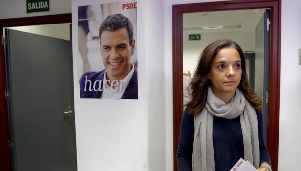 Sara Hernández, en la sede del PSM, en el comité regional del pasado 30 de septiembre