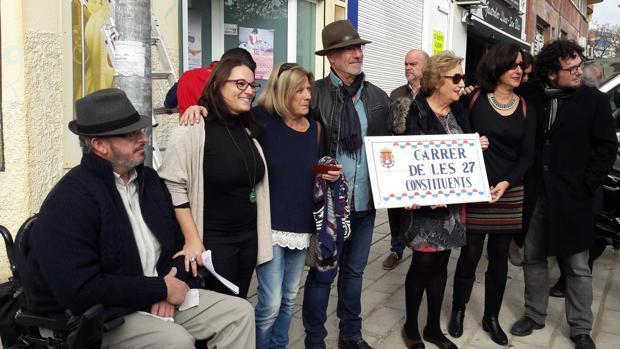 La primera de las calles a la que se cambió el nombre en noviembre en Alicante