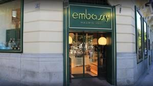 Fachada del local Embassy, en Paseo de la Castellana, 12