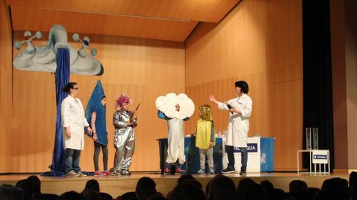 Una función de teatro infantil dentro del programa del Día Mundial del Agua