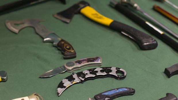 Armas que tenía «Paco el loco» en su casa