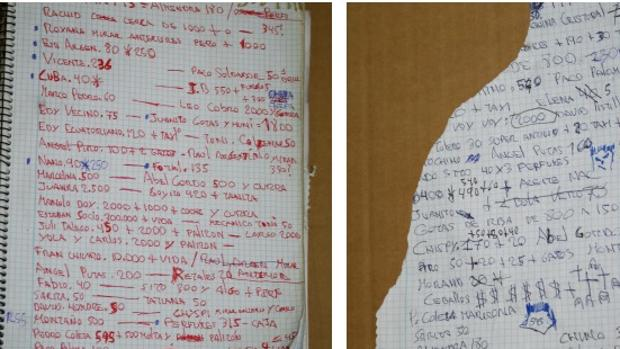 El macabro cuaderno de asesinatos y extorsiones de «Paco el loco»