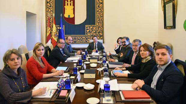 Consejo de Gobierno en el palacio de Fuensalida, el pasado 17 de enero