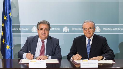 Juan Ignacio Zoido e Isidro Fainé