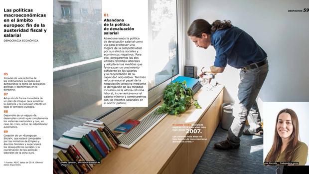 Imagen del programa electoral a modo de catálogo de Ikea que Podemos realizó para el 26-J