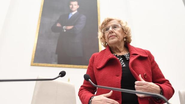 La alcaldesa de Madrid, Manuela Carmena, en el Pleno de esta semana