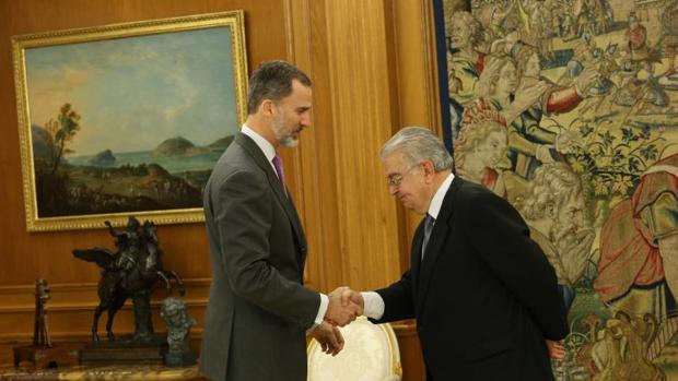 El Rey recibió este viernes a González Rivas, nuevo presidente del Constitucional