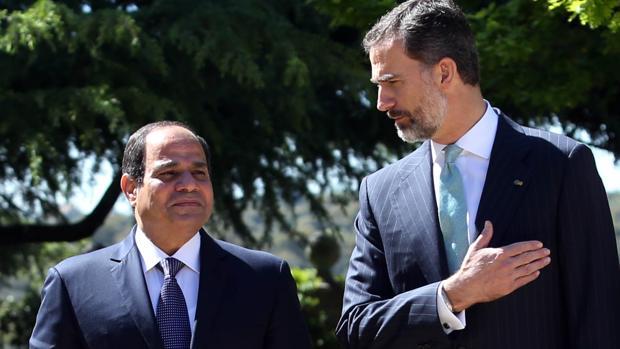 Don Felipe con Abdelfatah Al Sisi, en una imagen de archivo