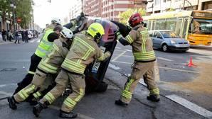 Imagen de uno de los coches implicados en el accidente