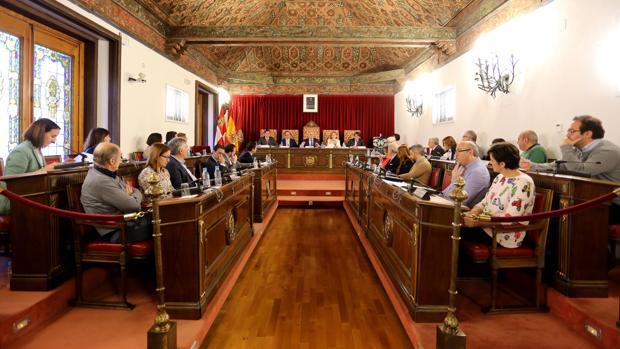 Pleno de la Diputación de Valladolid en una imagen de archivo