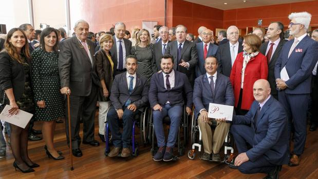 Asistentes y galardonados de los Premios Castilla y León