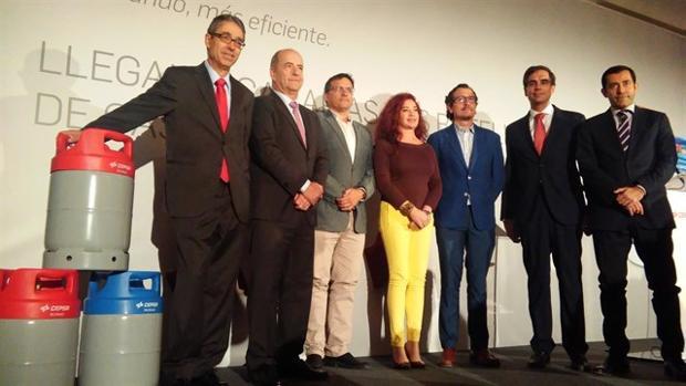 Acto de prensentación del nuevo producto de gas doméstico de Cepsa en Canarias